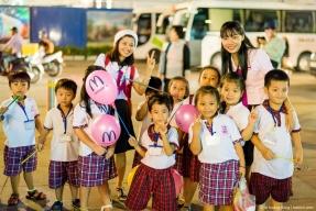 Tình cờ gặp các cô một trường mầm non ở Gò Vấp dắt các cháu đi dã ngoại, cuối năm 2016