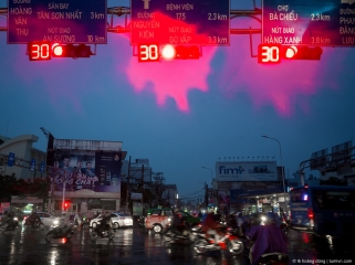 Mưa, giao lộ Phan Đăng Lưu, Nguyễn Kiệm, 2018