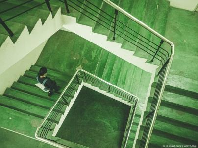 Cầu thang bộ ở Etown 1, Cộng Hòa